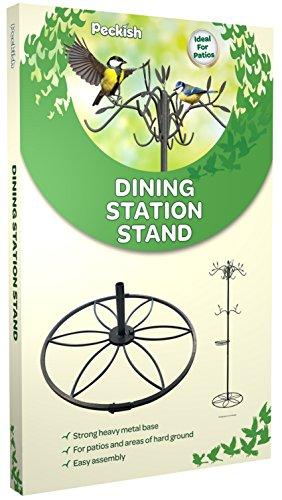 Peckish Metal Wild Bird Dining Station Patio S