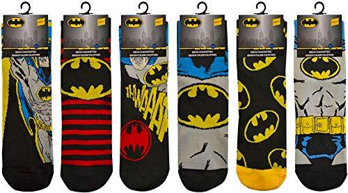 Herren-Socken, offizielles Batman-Design, Superhelden-Design, 3 Paar