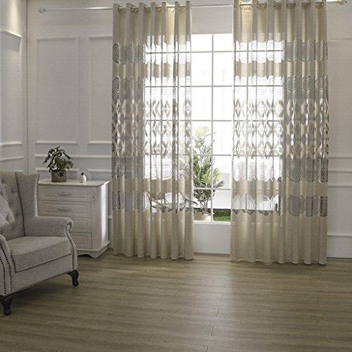 Met Love Jane Europe Atmosphère Moderne Haute Qualité Jacquard Fenêtre Rideaux Ombre Salon Rideau Balcon Fenêtre Écran Spéciaux 2 panneaux (taille : L:2.0*H:2.7m)
