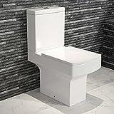 Belfort Close Coupled Toilet & Cistern inc Soft Close Seat