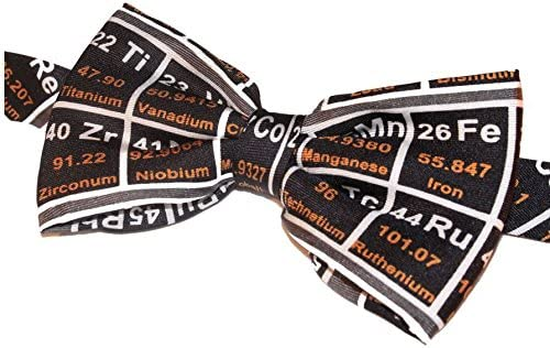 Black Periodic Table Fancy Silk Bow Tie Teacher Gift