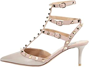 June in Love Women's Heeled Shoes, Sexy Rivets Studs Decoration Pointed Toe Thin Heel Sandals