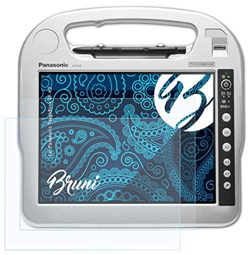 Bruni Schutzfolie kompatibel mit Panasonic ToughBook CF-H2 Folie, glasklare Bildschirmschutzfolie (2X)