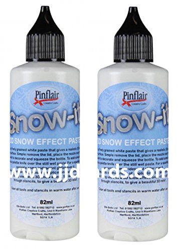 Pinflair - Snow-it - 3D Snow Effect Paste - Double Pack - 2 x 82ml