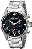 Alpina メンズ AL-372B4S6B スタータイマー パイロット クロノグラフ ビッグデイト アナログディスプレイ スイスクオーツ シルバートーン 腕時計