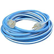 Southwire 1637SW0061 12/3 25-Foot SJEOW Supreme Extension Cord, Blue/White