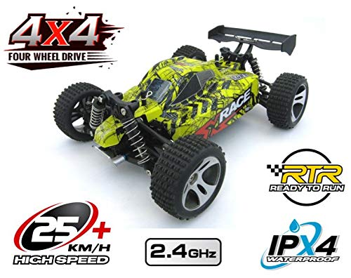 RC 2,4 Ghz Speed Buggy POTENZA 4WD Allrad ferngesteuertes Auto Buggy RTR Bis 30km/h - Allradantrieb - Alles inklusive - RTR Rennauto Monster Truck Buggy