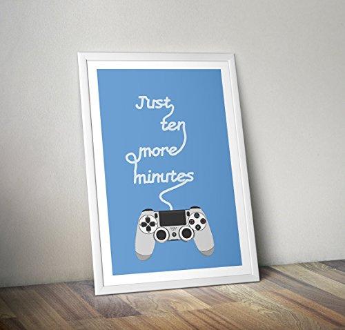Playstation Poster - Spielen drucken - Alternative Gamer/Gaming Drucke in verschiedenen Größen (Rahmen nicht im Lieferumfang enthalten)