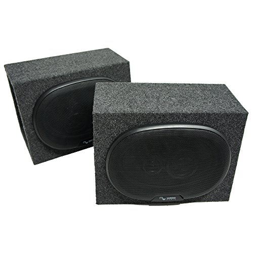 Harmony Audio Compatible with Universal Car Truck SUV HA-R69 New Loaded Dual 6x9 Speaker Box Enclosures