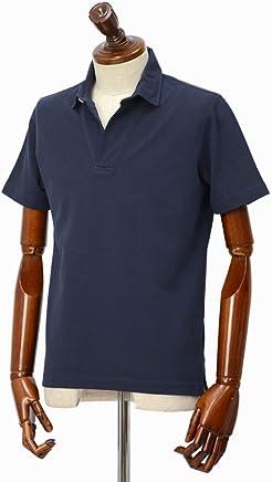 [Altea【アルテア】]スキッパーポロシャツ 1955103 1 コットン ピケ ネイビー