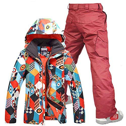 Winter Mannen Ski Suit 2019 Heren slijtage Warmte Ski Jassen Waterdichte Winddichte Suits Broek L rood
