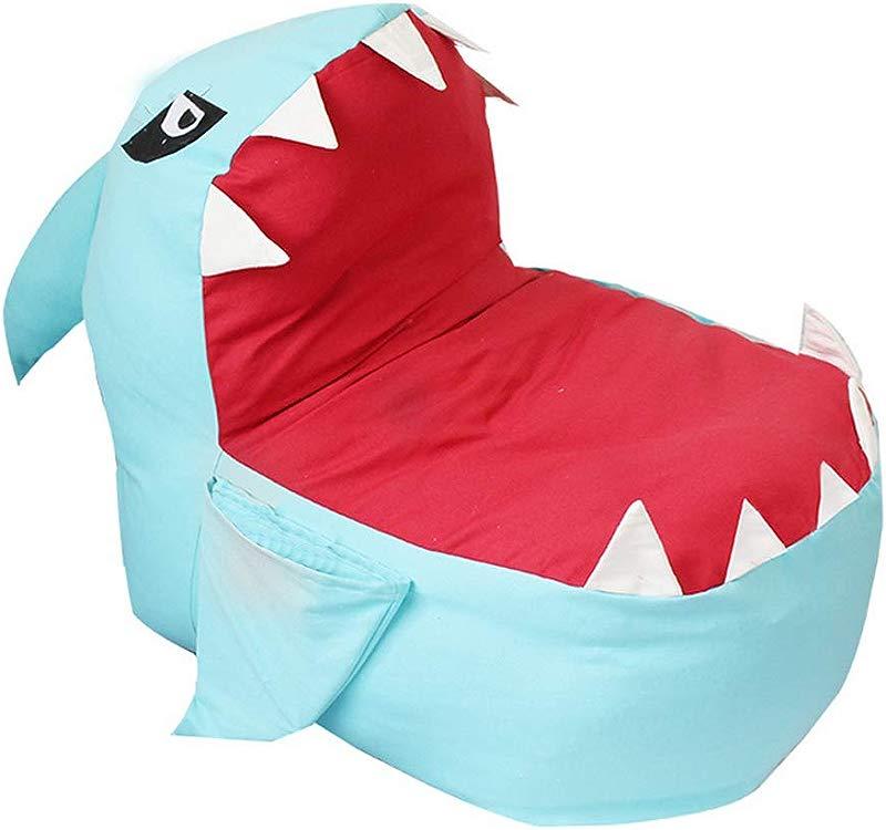 Shark Stuffed Animal Storage Bag Chair Dreamseden Dual Use Toy Organization Seat For Kids Blue