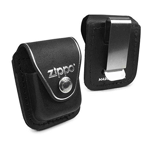Zippo Personalisierte Tasche Hülle (z.B Ihr Name, andere Name, Inschrift) Briquet -Kasten - echtes Leder-Schwarz