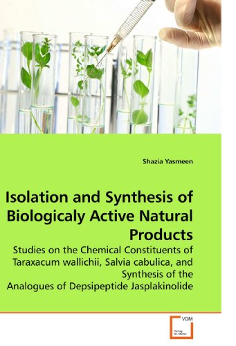 Isolation and Synthesis of Biologicaly Active Natural Products: Studies on the Chemical Constituents of Taraxacum wallichii, Salvia cabulica, and ... the Analogues of Depsipeptide Jasplakinolide