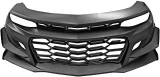 Front Bumper Compatible With 2016-2018 Chevrolet Camaro   1LE Style Black PP Cover Conversion Lip Grille Grill Bodykit Replacement by IKON MOTORSPORTS   2017
