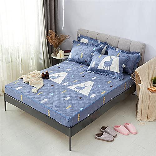 CYYyang Unterbett Soft-Matratzen-Topper, Matratzenschutz Boxspring-Betten geeignet Einzelne Stück Bettlaken verdickt-18_200cmx220cm