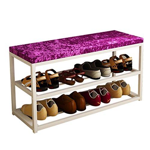 Fu Man Li Trading Company Porte-Chaussures Simple pivotant Moderne Tabouret de Rangement Tabouret de crémaillère Chaussures créatives Tabouret Tabouret en Tissu de Mode A+ (Taille : 80cm(31.49in))