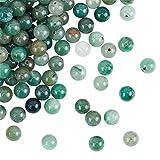 OLYCRAFT 200 pz 8mm Naturale Verde Avventurina Perline Natura Jasper Perline Rotonde Allentate Perline di Pietre Preziose Pietra Energetica per Braccialetto Collana Creazione di Gioielli