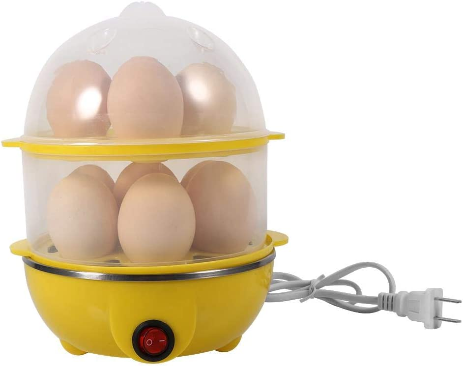 Electric Egg Steamer 5 ☆ popular Online limited product 2Colors Double-Layer Multi-functional 220V