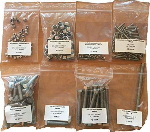 MPCNC Mostly Printed CNC Schrauben Set Kit, Version:Edelstahl A2 (Burly)