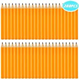 UPlama 200 Pack Golf Pencils, 3.5' Mini Pencils, 2 HB Half Pencils, Pre-Sharpened, Yellow, Golf, Classroom, Pew, Short, Mini - Hexagon, Sharpened, Non Toxic