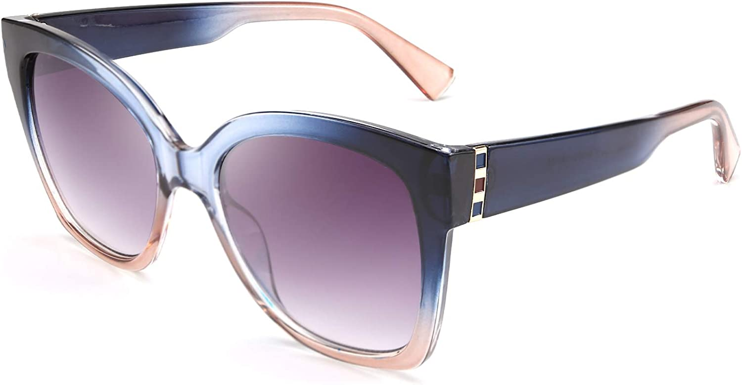 At the price of surprise FEISEDY Retro Oversized Square Sunglasses Milwaukee Mall Stylish Frame Colorful