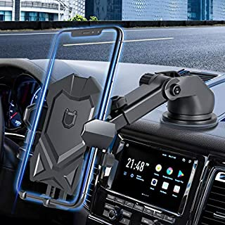 Car Mount Holder, MANORDS Long Neck One Touch Phone Holder for Car Compatible iPhone x, 8, 7/7 Plus,6s, Samsung Galaxy S8 S7 S6/LG/Sony and More