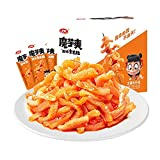 Weilong Latiao, Spicy Strip Konjac Snacks, Low Calorie Chinese Special Snacks, Independent small package, 20 Sachets / 360g a Pack, More Spicy