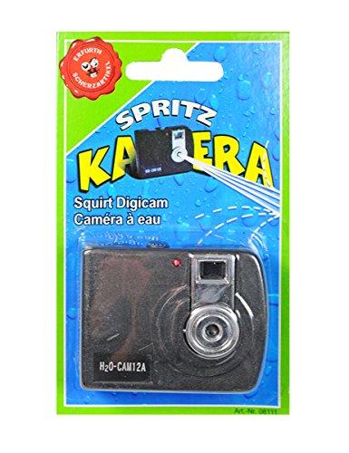 Erfurth Spritzende Kamera Scherzartikel schwarz Einheitsgröße