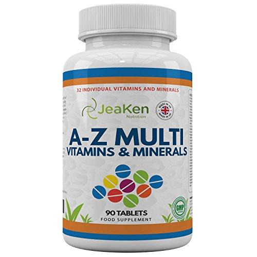 COMPLEJO VITAMINAS Y MINERALES | 32 Vitaminas y Minerales Individuales - Multivitaminas Hombre y Vitaminas...