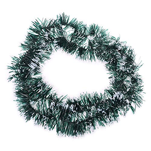 Guilin Banners Sell Good for Christmas Party Garland Ribbon String Xmas Tree Hanging Ornament Dark Green with White Edge