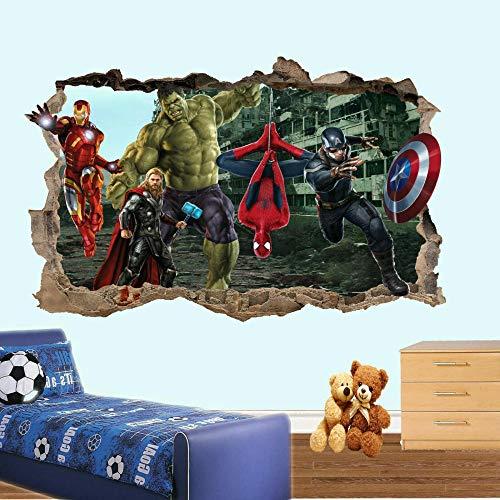 Wandtattoo iron Spider Man iron Wall Sticker Art 3D Sticker Mural Room Decoration