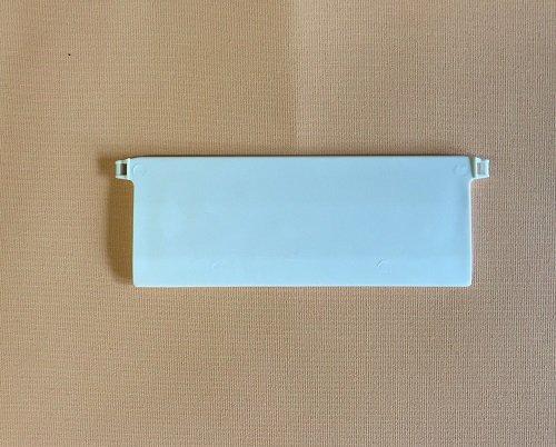 Jellinghaus Sonnenschutz Beschwerungsplatten Breite 127 mm Gewichte für Vertikaljalousie Lamellen Vorhang in weiß aus Kunststoff (10 Stück)