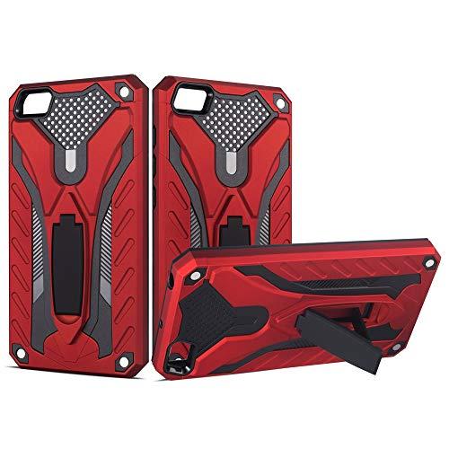 BestST Funda Xiaomi Redmi 4A +Protector de Pantalla, Rugged Armor y Absorción de Choque Resistente 360 Grados Protective Anti-Golpes Anti-Arañazos Case Cover Caso Carcasa Estuche Protector,Rojo