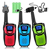 Topsung Rechargeable Walkie Talkies Set,wokie tokie with Batteries and USB Charger, Clear Sound and Long Range for Camping Hiking Skiing and Outdoor Activity