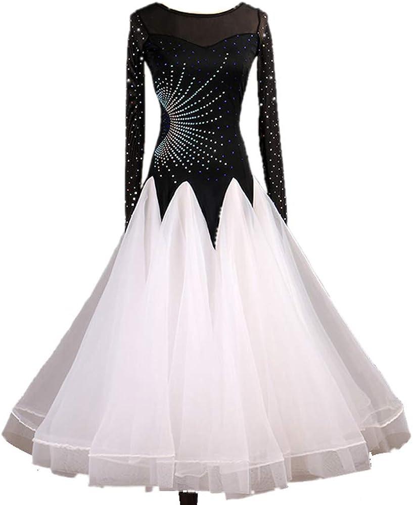 SEAL limited product It is very popular New Latin Ballroom Dance Dress Salsa Waltz Standard Long Modern
