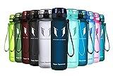 Super Sparrow Trinkflasche - Tritan Wasserflasche - 500ml - BPA-frei - Ideale Sportflasche - Schnelle Wasserdurchfluss, Flip Top, öffnet Sich mit 1-Click (Blaubeere, 500ml-17oz)