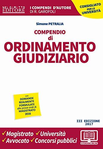 Compendio di ordinamento giudiziario. Con Contenuto digitale per download e accesso on line