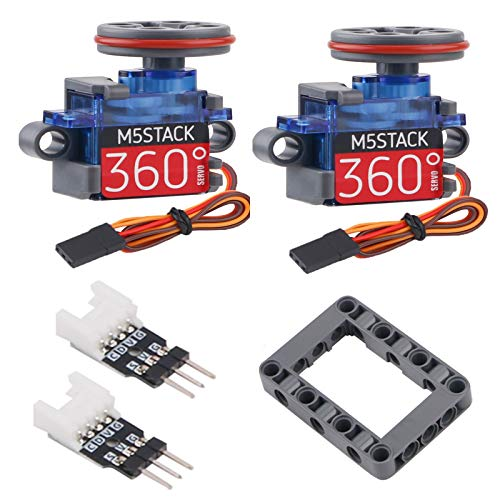 Seamuing Servo Motor 9G M5Stack Micro Servo Motor Kit 360 Degree with Metal Gear Compatible with Le Go Stand for Arduino and UIFlow