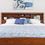 Cherry King Bookcase Headboard Brown Country Laminate MDF Wood Finish Storage