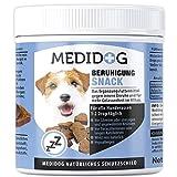 Medidog 400g Premium Beruhigung Relax Drops, natürliches Beruhigungsmittel für Hunde, Extra kaltgepresst und getreidefrei, Gegen Angst, Entspannung, Innere Ruhe, Silvester, Tierarztbesuch