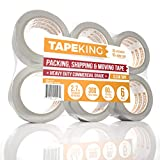 Tape King Clear Packing Tape - 60 Yards Per Roll (6 Refill Rolls) - 2 Inch Wide Stronger 2...