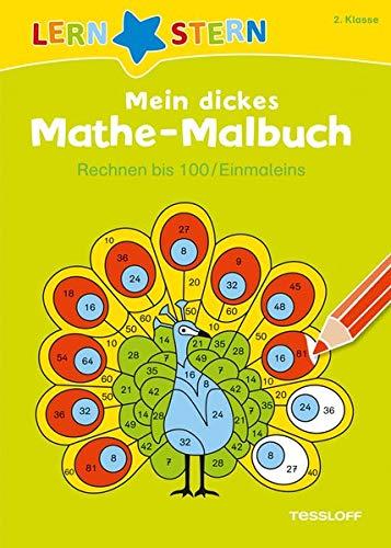 LERNSTERN Mein dickes Mathe-Malbuch Rechnen bis 100/ Einmaleins