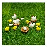 emien 16Stücke Hühner Hühner Familie Miniatur Ornament Kits Set für DIY Puppenhaus Miniatur...