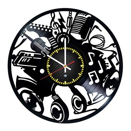 Musical Instruments Vinyl Record Wall Clock