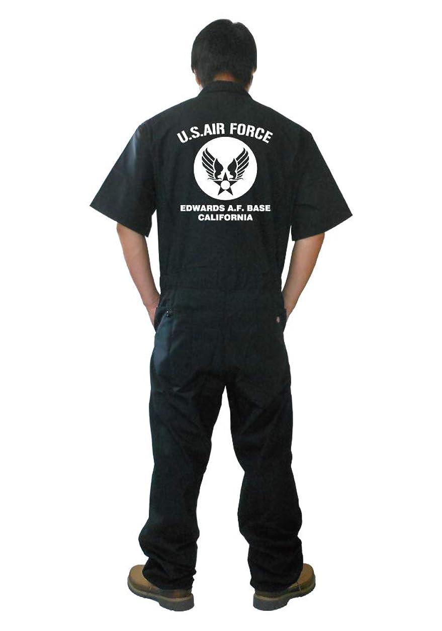 代引き可!【Dickies】ディッキーズ 半袖 つなぎ ツナギ カスタム カバーオール 「U.S. AIR FORCE」
