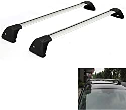 48'' Car Top Roof Rack Cross Bars Crossbars Luggage Cargo Carrier Fit for 2016 Ford Focus 2.5L 1.6L 2L 2.3L L4-150lbs Load Capacity