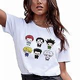 HXH Cute Japanese Anime T Shirt Women Summer White Short Sleeve Tops Kawaii Clothes