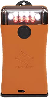 FoxFury 302-004 Scout Clip Light with White and Red LEDs, Orange, 49 Lumens
