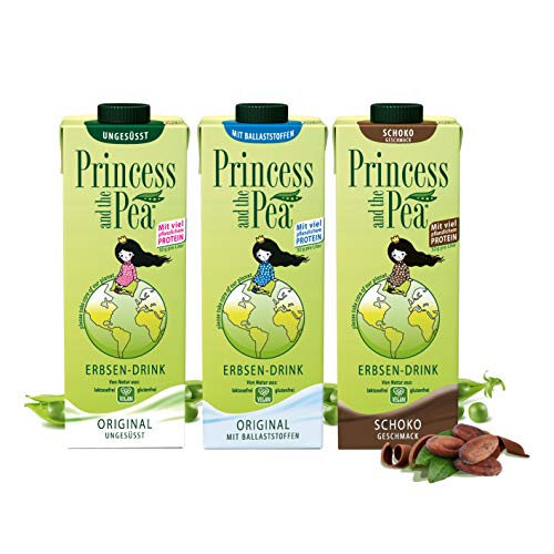 PRINCESS AND THE PEA Erbsen-Drink   Vegan   8 g Protein pro 250 ml (3er PROBIERSET)